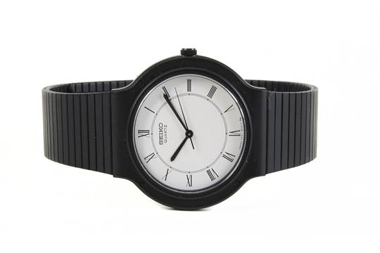 A Black Seiko Brand Wristwatch Owned By Steve Jobs The Simple Design Of The Seiko Watch Was A Fa