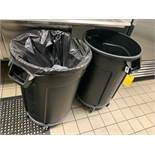 BRUTE TRASH RECEPTICLES WITH CASTERS