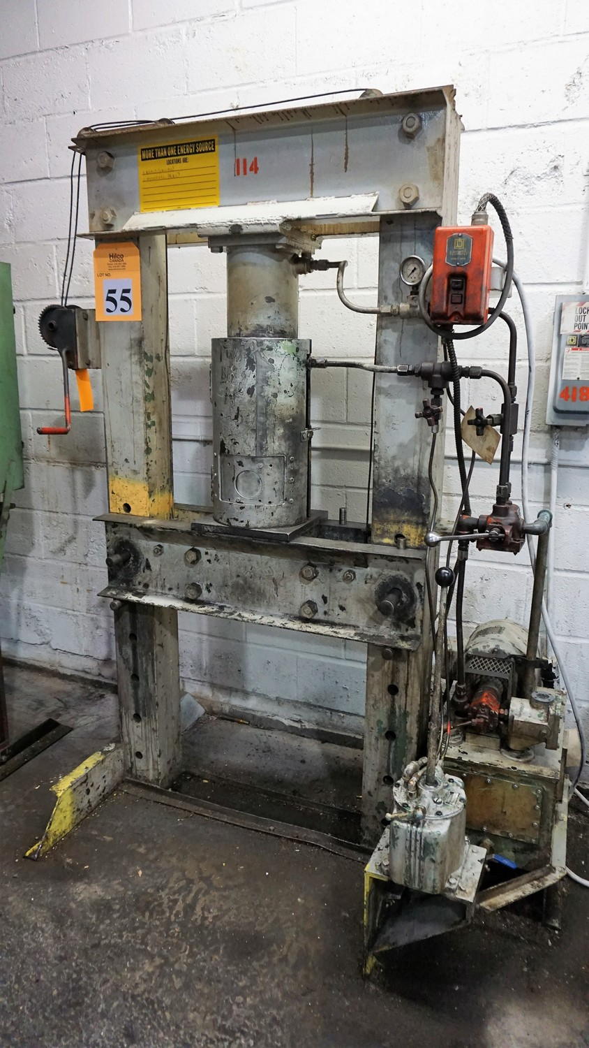 Lot 55 - 20-Ton Hydraulic Shop Press (CMI# 114)
