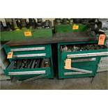 LOT: (2) CABINETS W/ VISE & MISC. TOOLING
