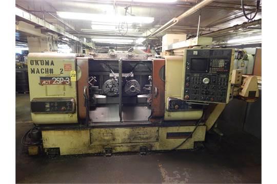 okuma howa model act 2sp 3 twin spindle cnc turning center s n rh bidspotter com Okuma Howa Parts Okuma Howa CNC