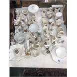 Approximately 100 pieces of crested ware including Goss and Shelley