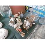 A quantity of oriental figures etc