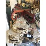Six hardwood fish bowl stands