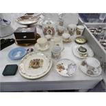 A collection of assorted royal memorabilia,