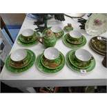 An oriental tea set