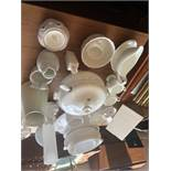 A quantity of assorted white china