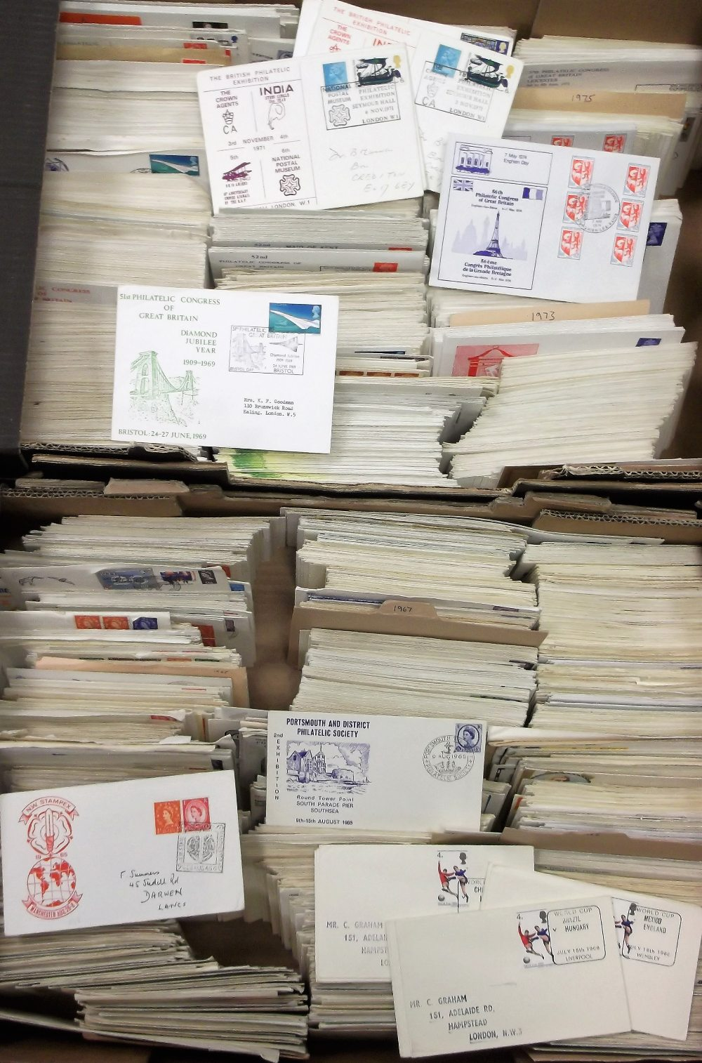 Lot 17 - Postal history, a large collection of covers, 1963 to 1975, all with special event postmarks, many