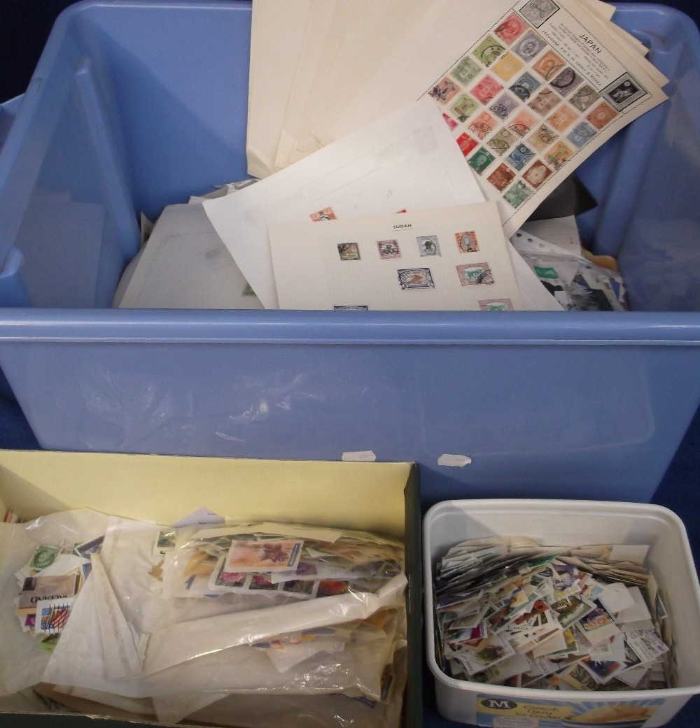 Lot 8 - Stamps, a vast accumulation of world wide stamps mounted on album pages, loose, in glassines etc,