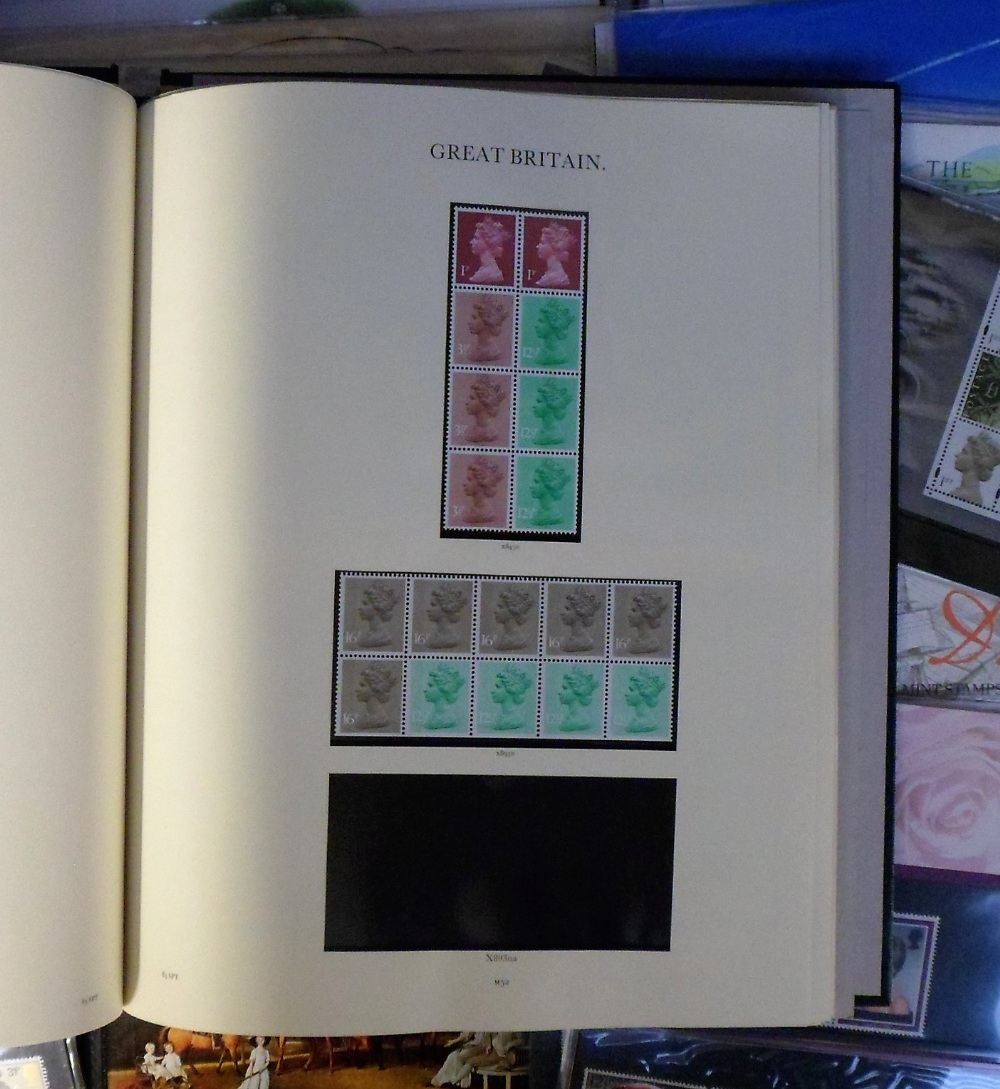 Lot 3 - Stamps, GB, a large collection of decimal presentation packs and booklets, also a modern album