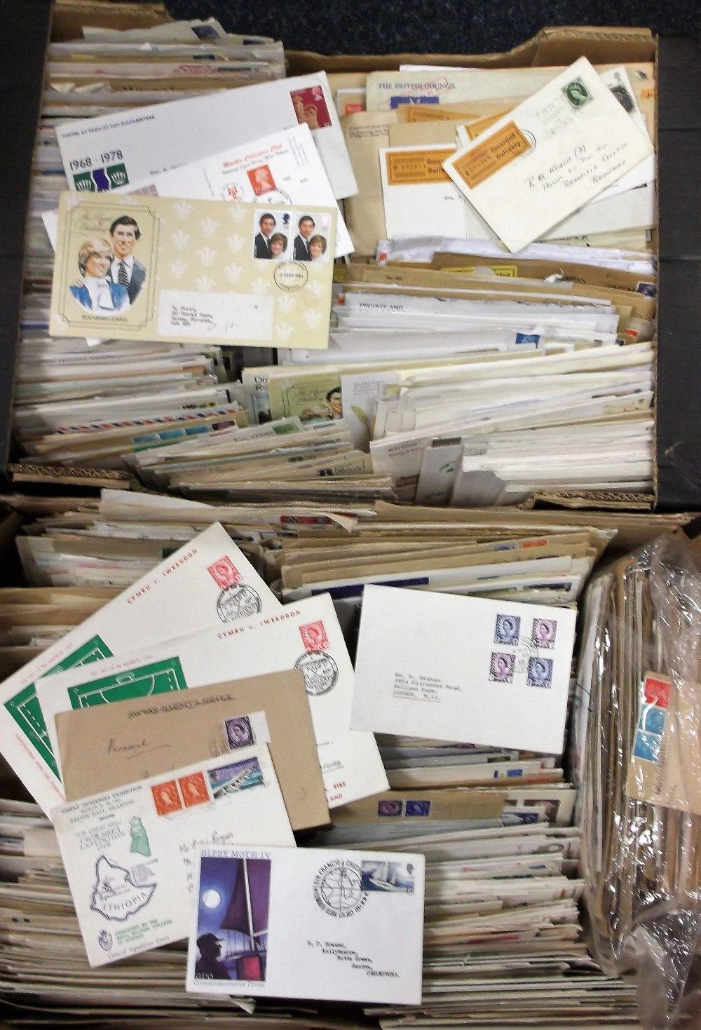 Lot 12 - Postal History, 3 large boxes containing 100s of QE2 pre-decimal and decimal covers with various