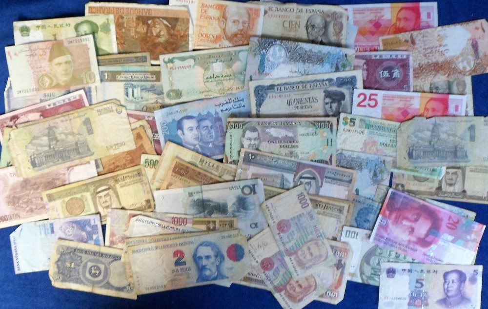 Lot 41 - Banknotes, a large collection of approx 700 banknotes, 1930's onwards, world wide selection from