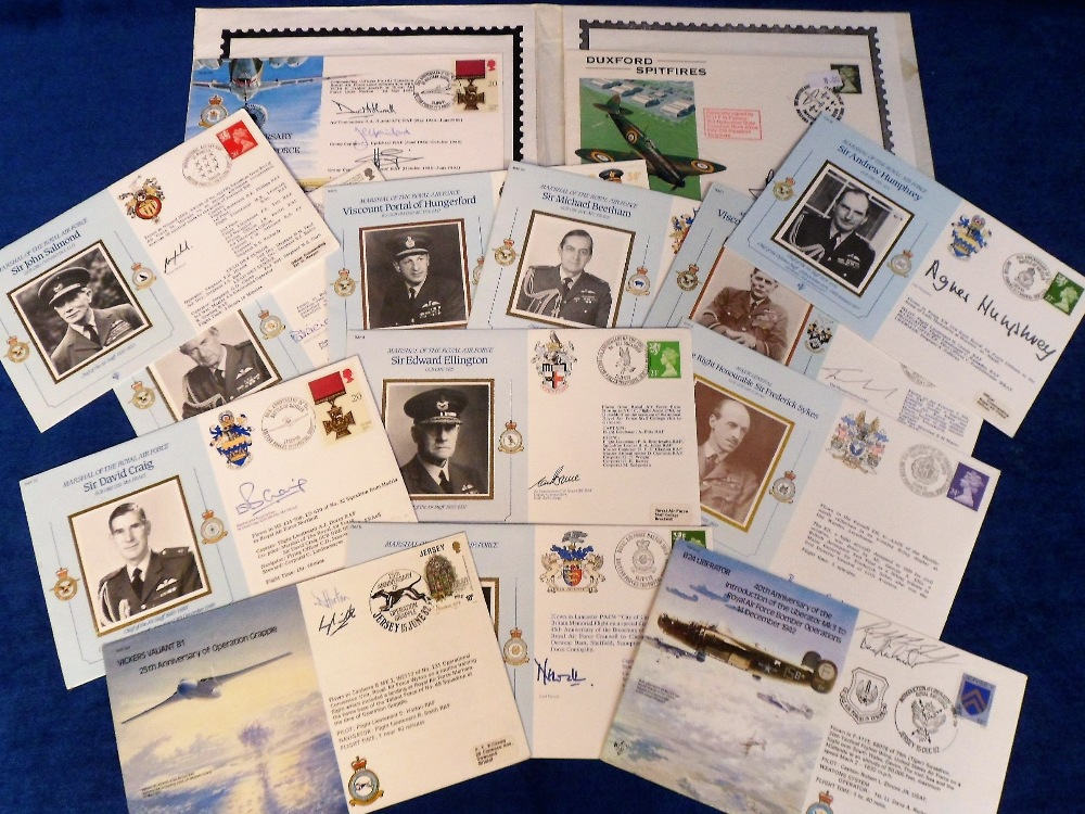 Lot 20 - RAF Signed commemorative covers, a collection of 13 signed covers, each one bearing one or more