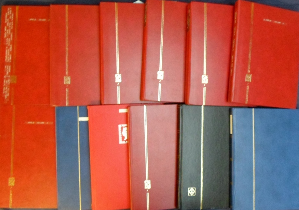 Lot 24 - Stamps, a large collection of Worldwide stamps contained in 12 stock books inc. China mint and