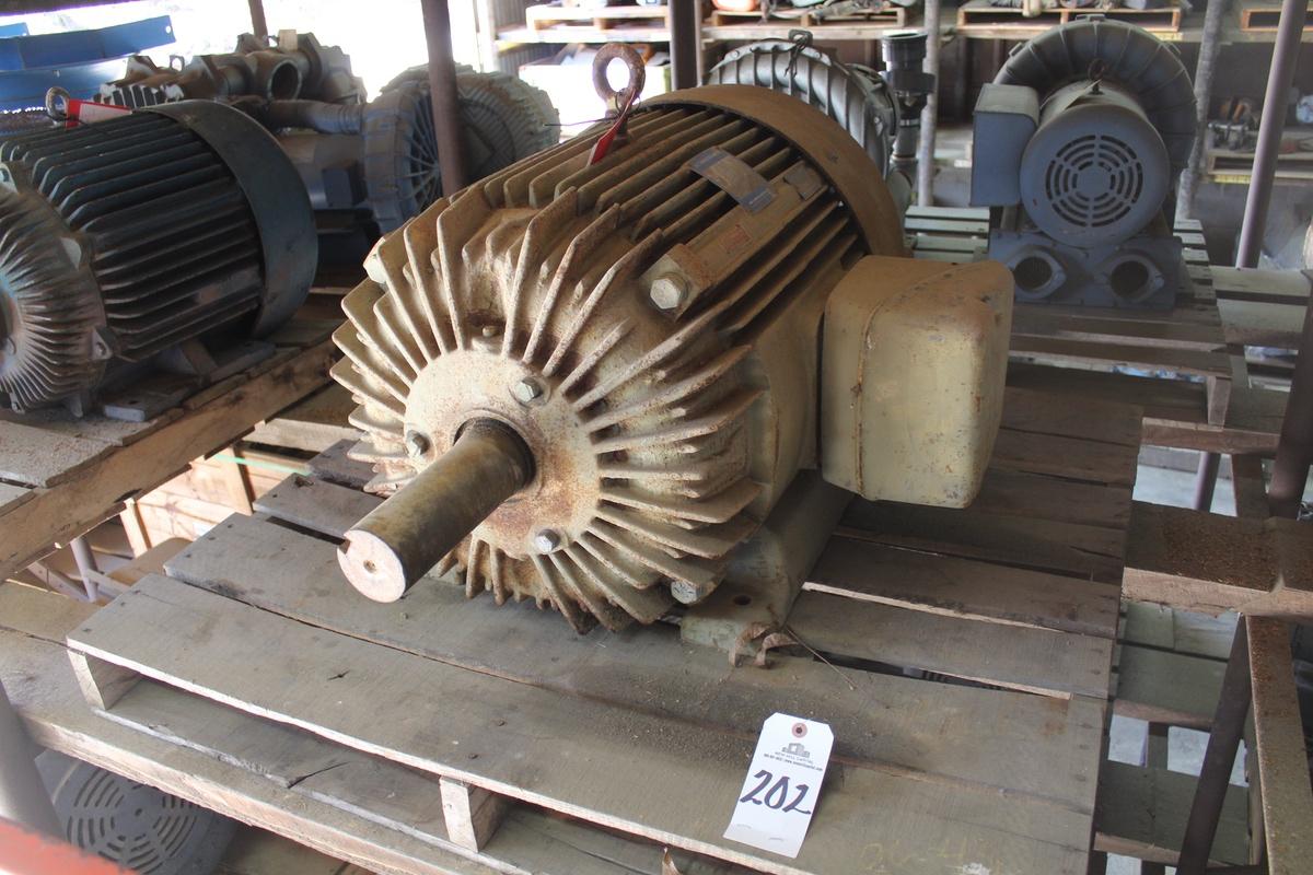 Lotto 202 - Louis-Allis Motor 50 hp 1800 rpm 405T 230/460V TEFC   Load Fee: $5
