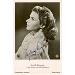 BERGMAN INGRID: (1915-1982) Swedish Actress, Academy Award winner.