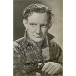 BRITISH CINEMA: Selection of vintage signed postcard photographs (6),