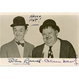LAUREL & HARDY: LAUREL STAN (1890-1965) & HARDY OLIVER (1892-1957) English and American Film