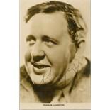LAUGHTON CHARLES: (1899-1962) English Actor. Academy Award winner. Vintage signed 3.5 x 5.