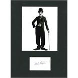 CHAPLIN CHARLES: (1889-1977) English Film Comedian, Academy Award winner.