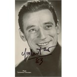 FRENCH CINEMA: Small selection of vintage signed postcard photographs by various French actors and