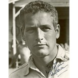 NEWMAN PAUL: (1925-2008) American Actor, Academy Award winner. Signed and inscribed 7.5 x 9.