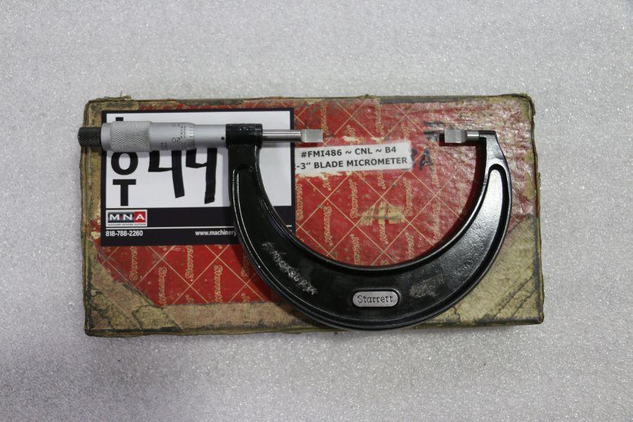 """Lot 44 - Starrett 2"""" - 3"""" Blade Micrometer"""