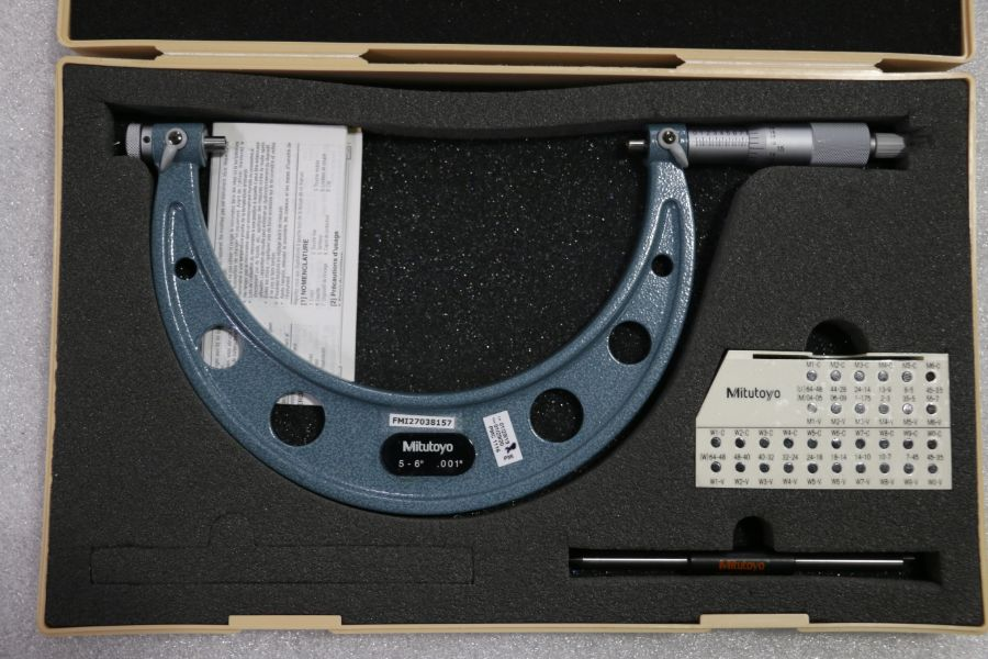 """Lot 37 - Mitutoyo 5"""" - 6"""" Pitch Micrometer"""