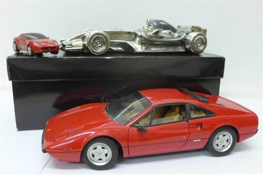 A Silver Dreams by Leonardo Formula 1 racing car, a Hot