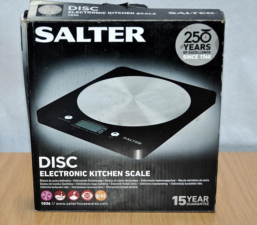 1 X Salter Slim Design Electronic Platform Kitchen Scale Model 1036 Black Pre Owned In Goo