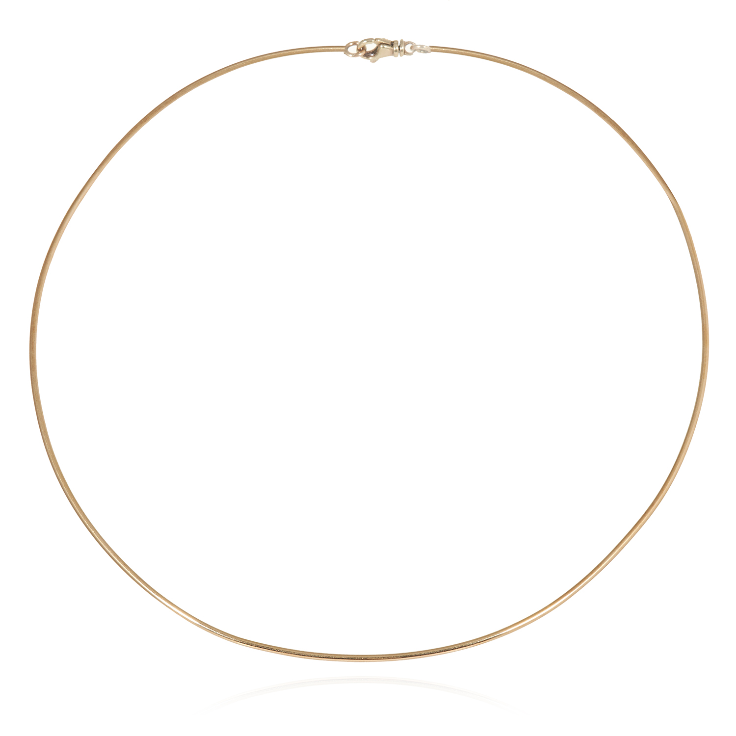 Los 21A - GOLD TORQUE NECKLACE in yellow gold, 12.5cm inner diameter, 9.4g.