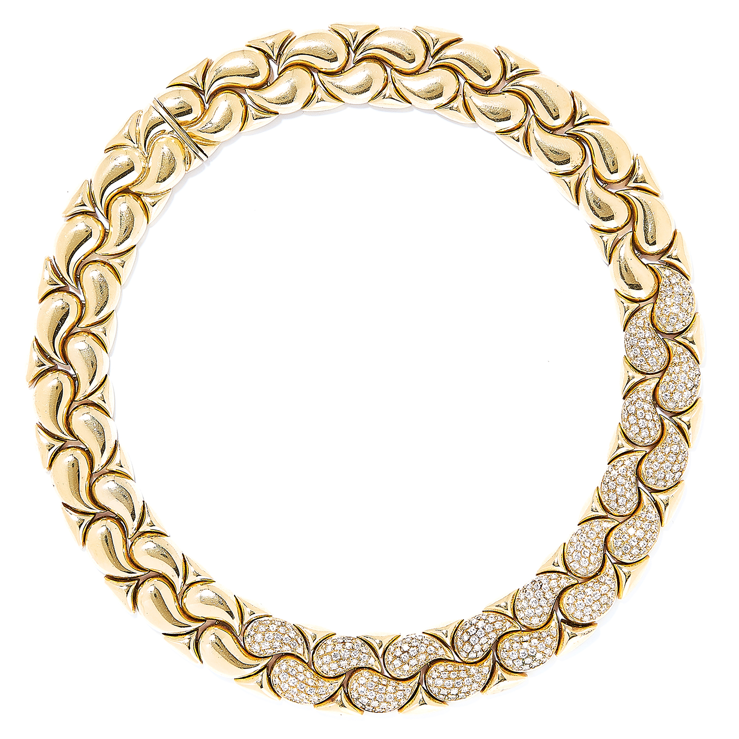'CASMIR' DIAMOND NECKLACE AND BRACELET SUITE in 18ct yellow gold, in the style of Chopard, each - Bild 2 aus 4