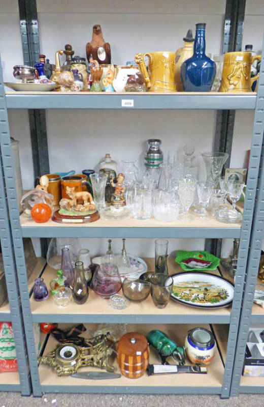 Lot 3008 - LARGE SELECTION OF PORCELAIN, GLASSWARE ETC INCLUDING DECANTERS, WATER JUGS,