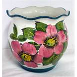 WEMYSS WARE SQUAT VASE WITH FRILLED RIM,