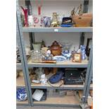 LARGE SELECTION OF GLASSWARE, BRASSWARE,