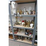 LARGE SELECTION OF BRASSWARE, GLASSES,