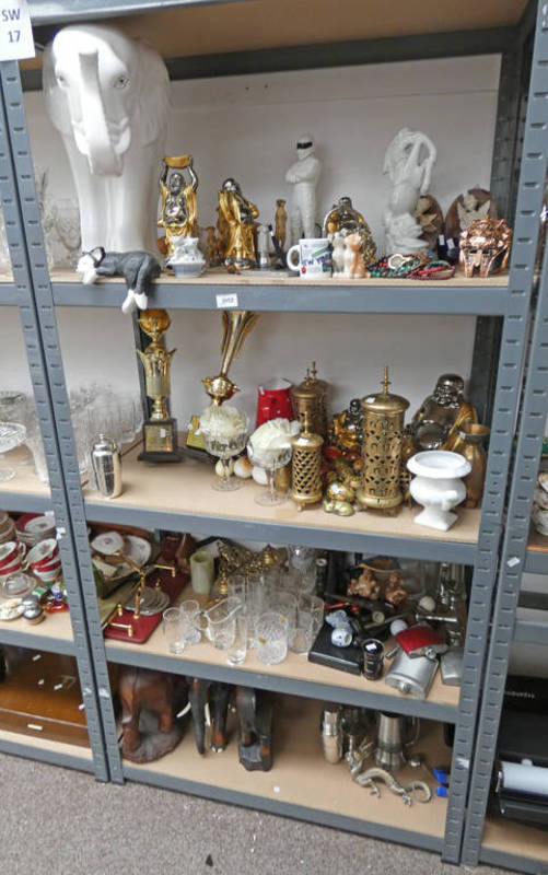 Lot 3052 - LARGE SELECTION OF BRASSWARE, GLASSES,