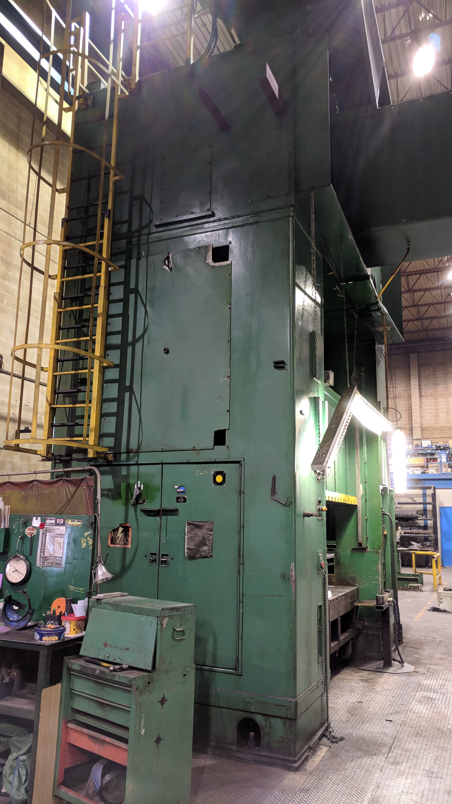 """BLISS SE4-600-108X72 600 TON CAPACITY STRAIGHT SIDE PRESS WITH MAGELIS 2000 PLC CONTROL, 108""""X72"""" - Image 13 of 21"""