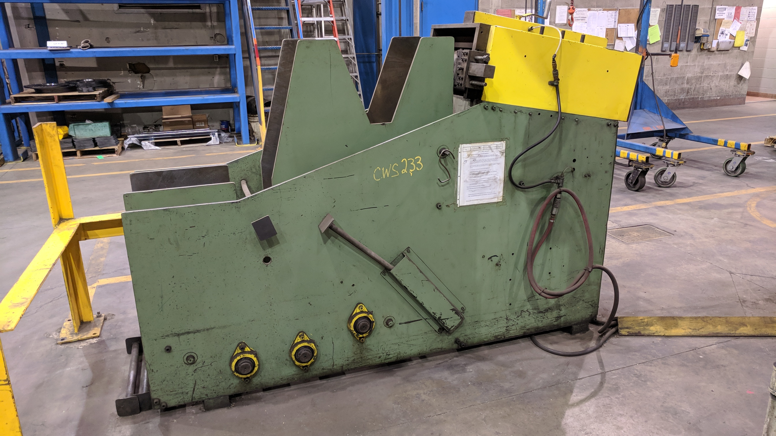 "MFG UNKNOWN 18"" UNCOILER WITH STRAIGHTENER-FEEDER, S/N N/A (CI) - Image 5 of 6"