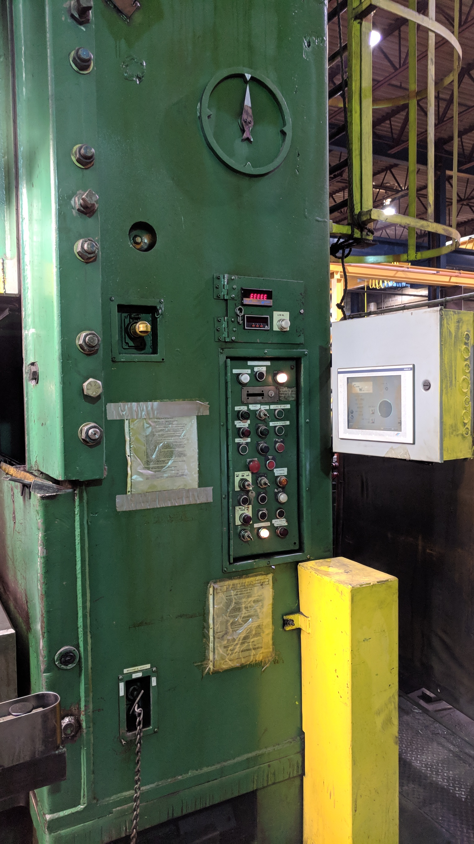 """BLISS SE4-600-108X72 600 TON CAPACITY STRAIGHT SIDE PRESS WITH MAGELIS 2000 PLC CONTROL, 108""""X72"""" - Image 11 of 21"""