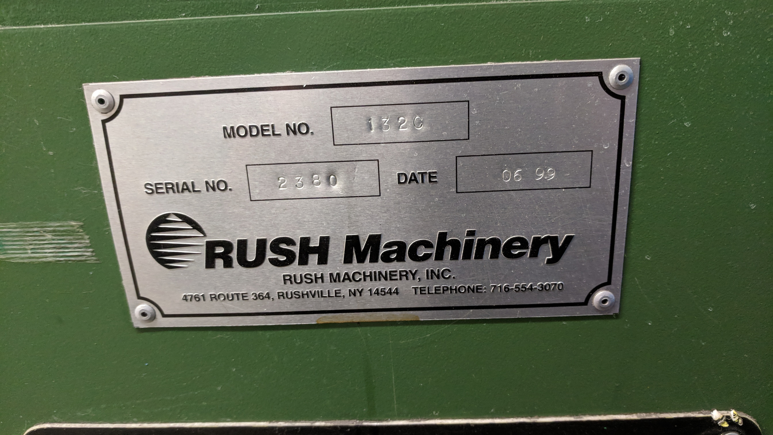 """RUSH MACHINERY (1999) 132C TOOL AND CUTTER GRINDER WITH 0.80"""" TO 1.25"""" CAPACITY, S/N 2380 (CI) - Image 2 of 3"""