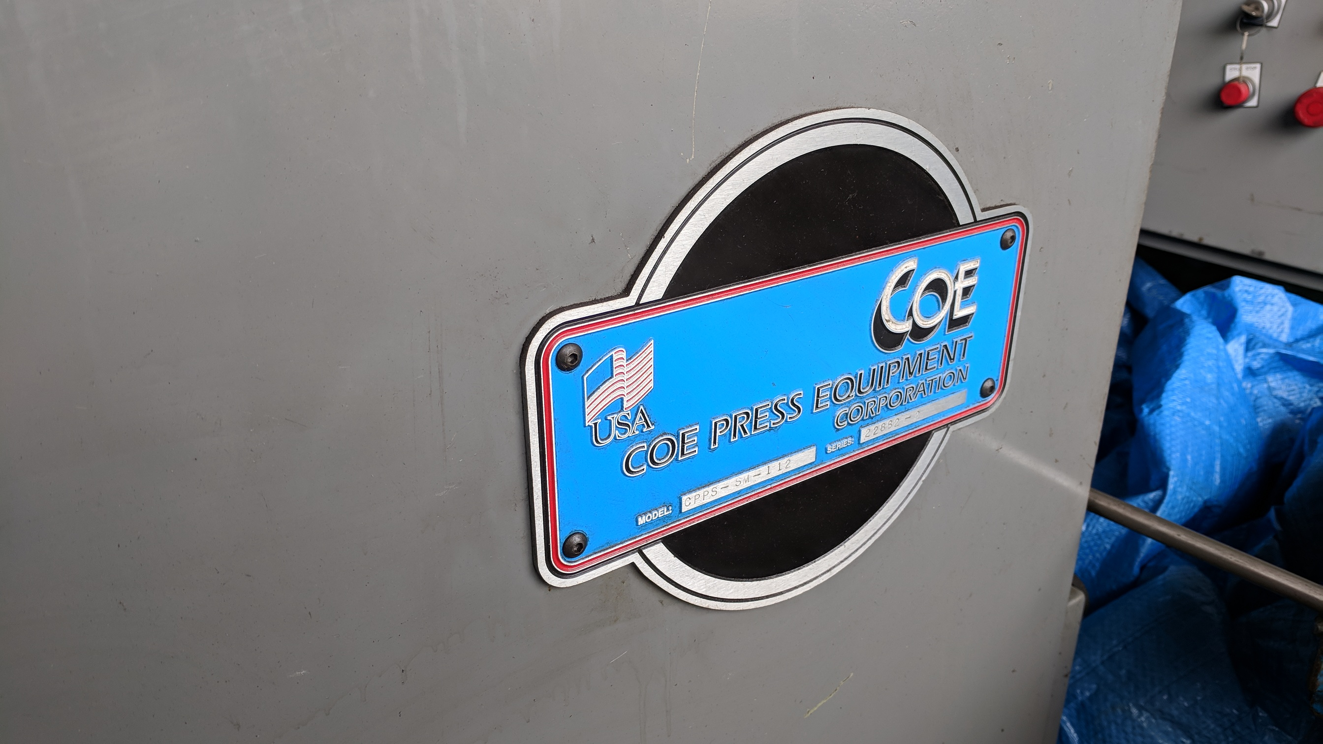 "COE PRESS EQUIPMENT CPPS-SM-112 .125""X12"" STRAIGHTENER-FEEDER, S/N 22882 (CI) - Image 2 of 3"