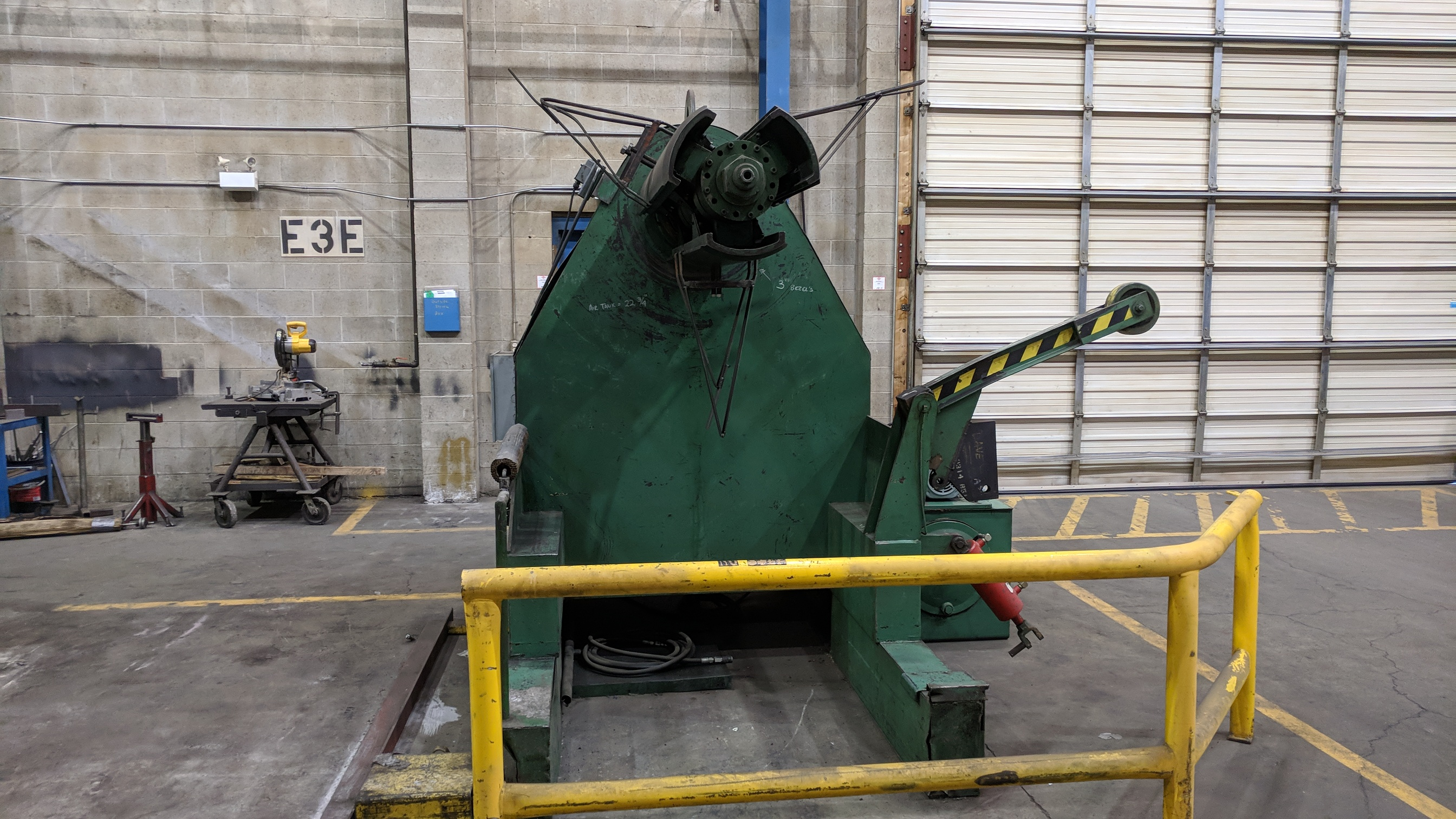 """PRESS LINE PL 1000 48"""" HYDRAULIC POWER UNCOILER, S/N 5608-3/77 (CI) - Image 6 of 6"""