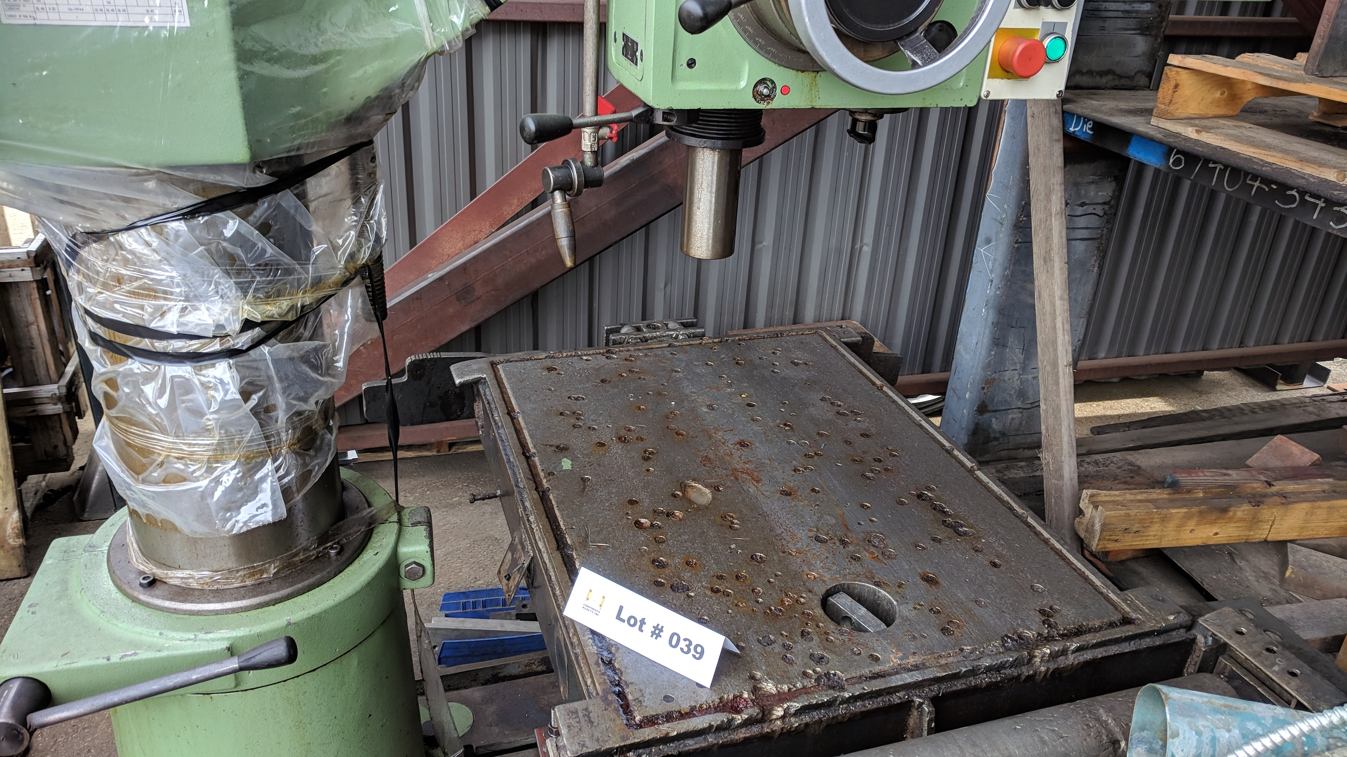 """MAS (1998) VO32 40"""" RADIAL ARM DRILL WITH 10"""" COLUMN, SPEEDS TO 2890 RPM, 3 HP, S/N 2663 (CI) - Image 5 of 7"""