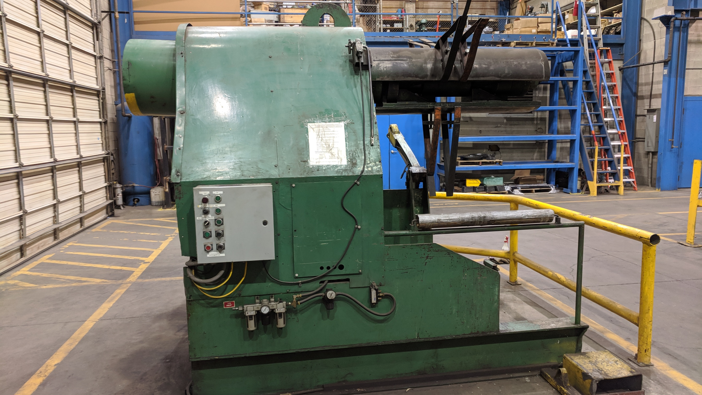 """PRESS LINE PL 1000 48"""" HYDRAULIC POWER UNCOILER, S/N 5608-3/77 (CI) - Image 5 of 6"""