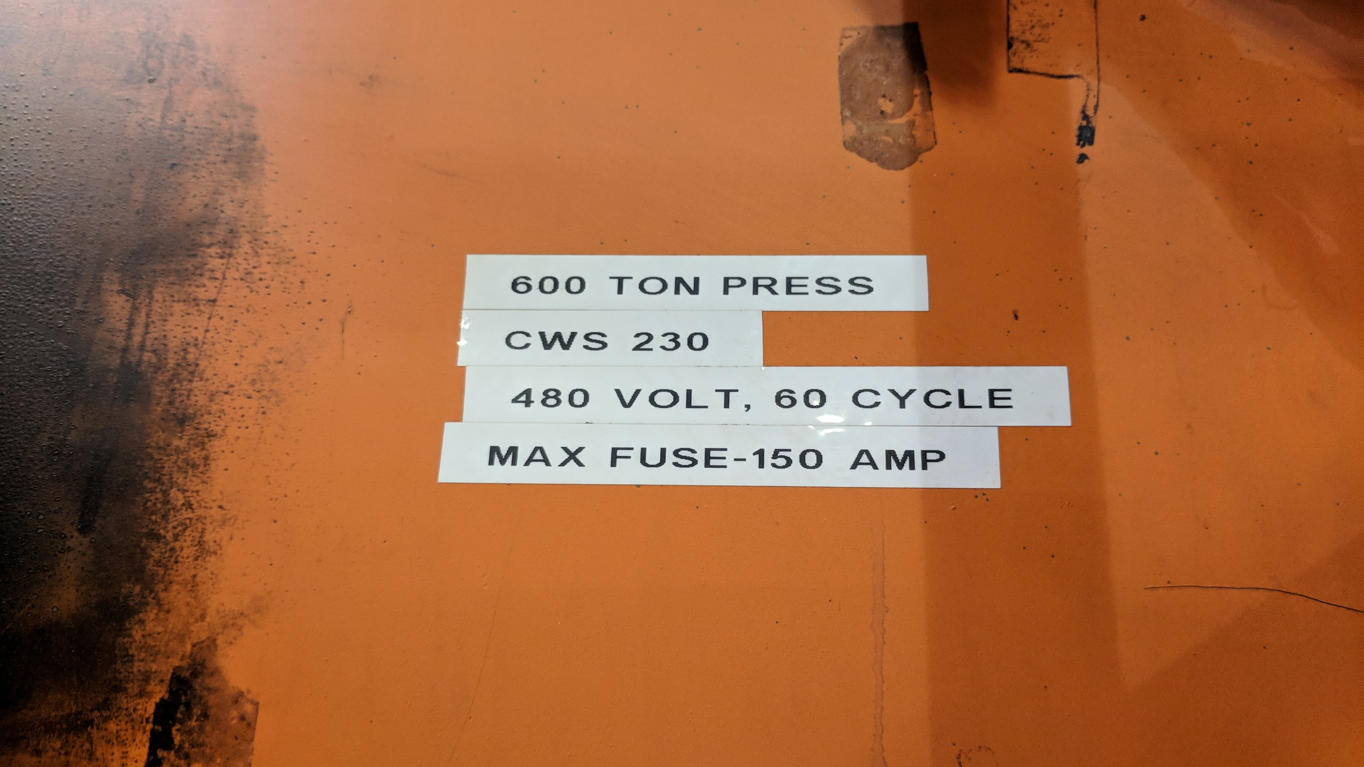"""BLISS SE4-600-108X72 600 TON CAPACITY STRAIGHT SIDE PRESS WITH MAGELIS 2000 PLC CONTROL, 108""""X72"""" - Image 17 of 21"""