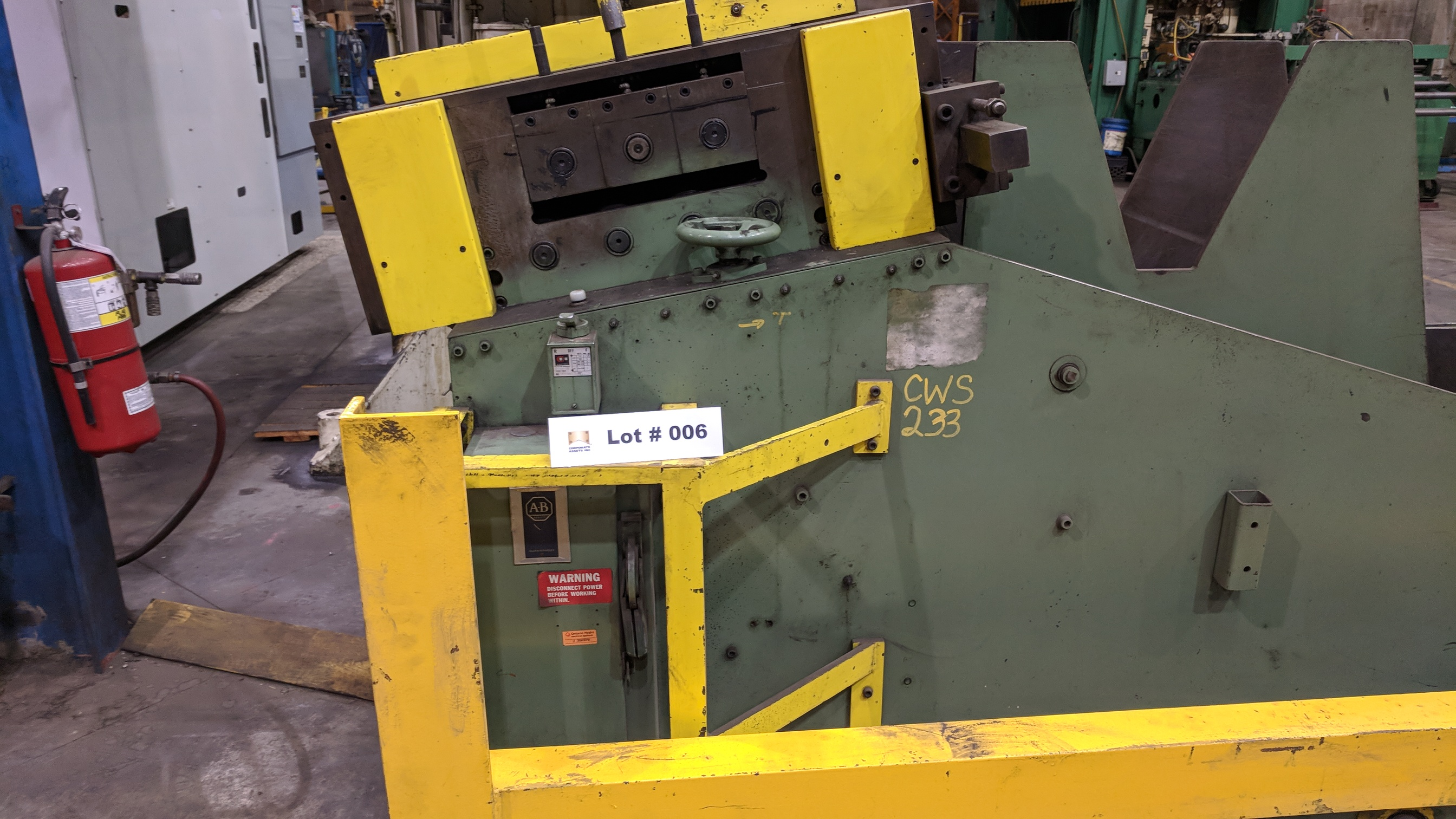 "MFG UNKNOWN 18"" UNCOILER WITH STRAIGHTENER-FEEDER, S/N N/A (CI) - Image 2 of 6"