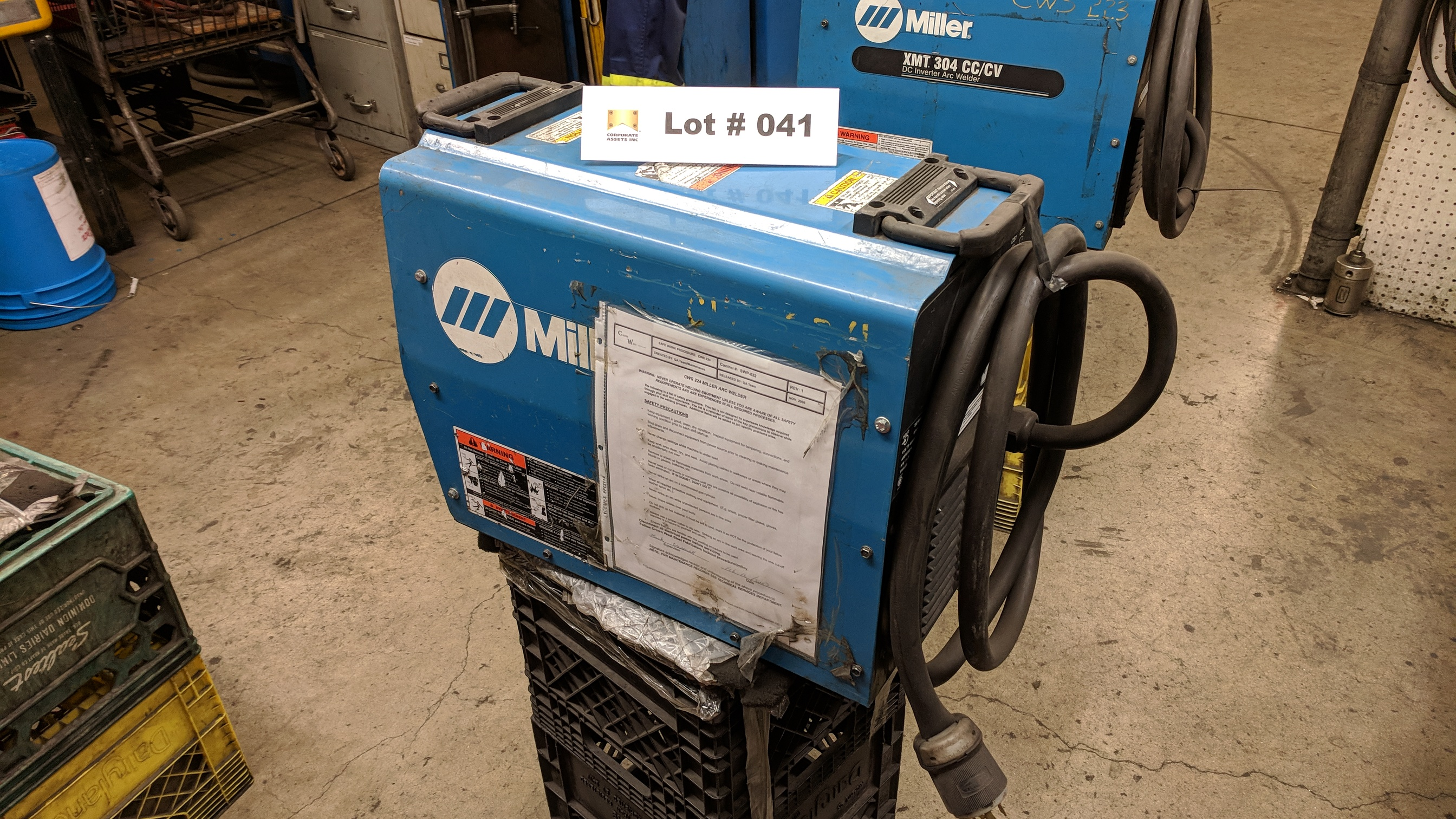 MILLER XMT 304 CC/CV DC INVERTER ARC WELDER WITH CABLES AND GUN, S/N N/A - Image 2 of 2