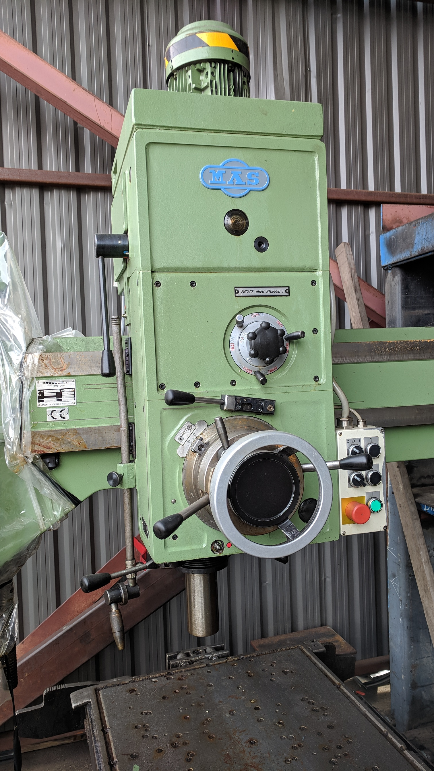 """MAS (1998) VO32 40"""" RADIAL ARM DRILL WITH 10"""" COLUMN, SPEEDS TO 2890 RPM, 3 HP, S/N 2663 (CI) - Image 4 of 7"""