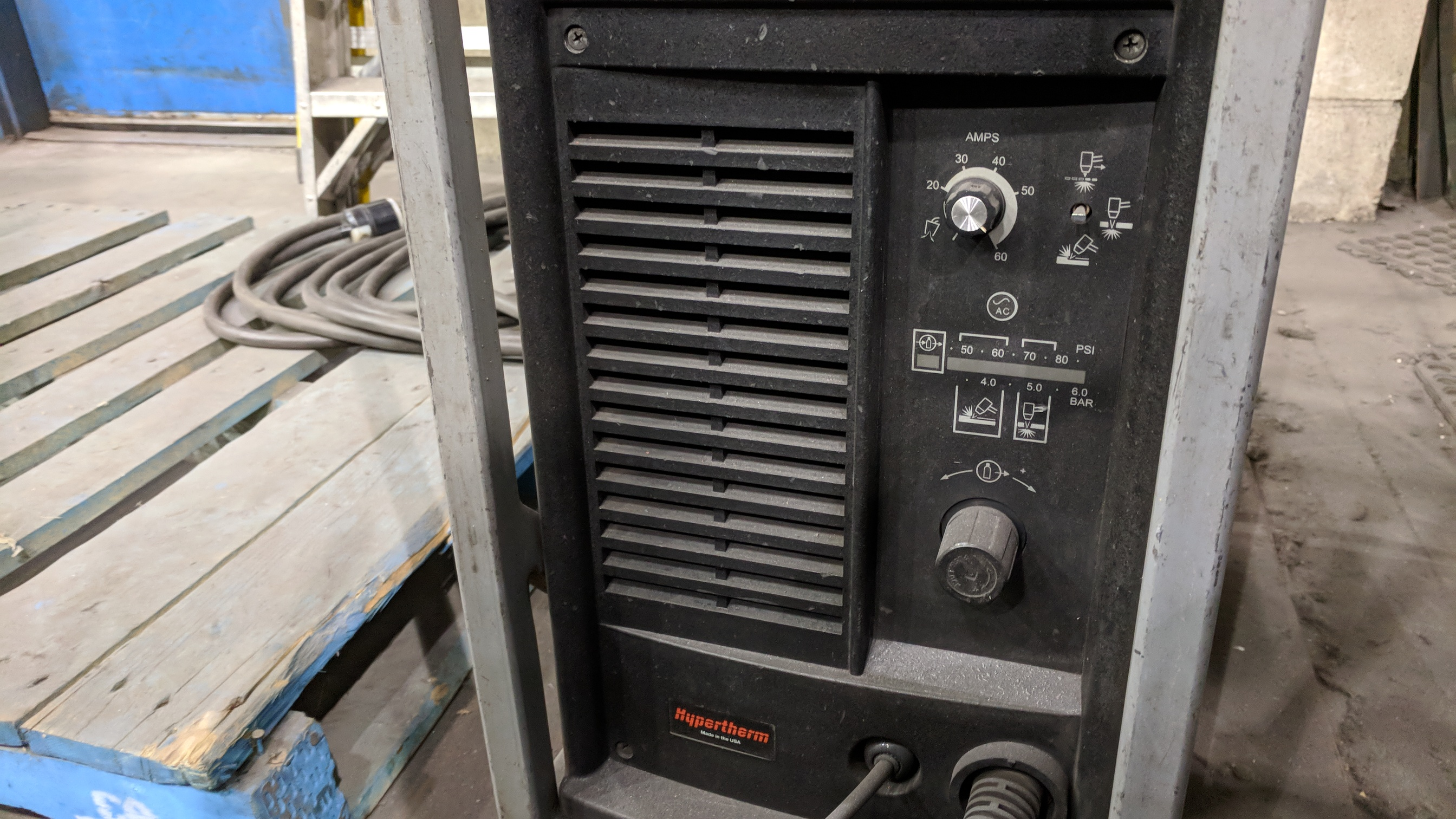 HYPERTHERM POWERMAX 1000 G3 SERIES PORTABLE PLASMA CUTTER WITH CABLES AND GUN, S/N N/A - Image 4 of 4